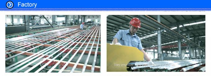 Structural 6063 T5 Aluminum I Beam Profiles With Cutting / Milling / Punching Process