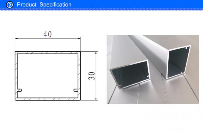 6063 T5 Natural Anodised Aluminium Extrusion Central Frame Profiles for Air Handler Unit