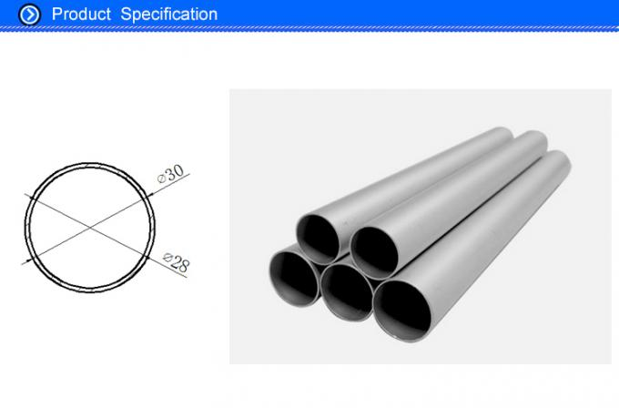 1 MM Thin Wall Extruded Aluminium Tube With Sand Blasting Craft 30 MM  Dia