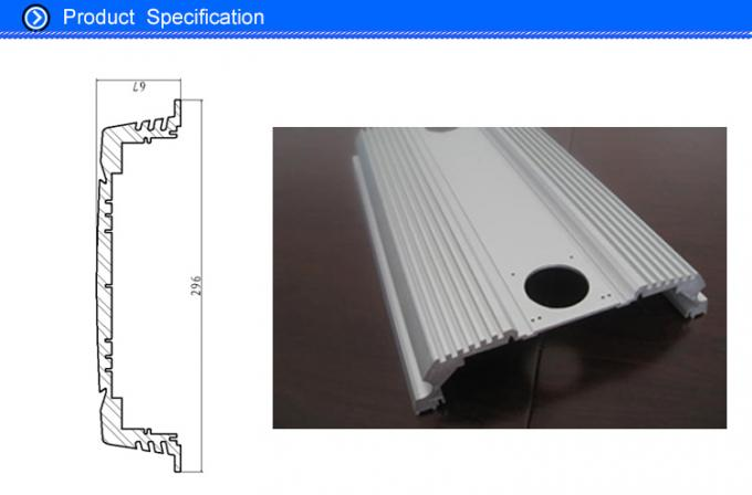 Anodised Aluminium Flat Bar Extrusion Profiles for 300 Watt Vehicle Amplifier Case