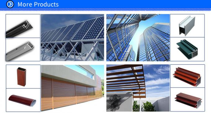 Aluminium U Channel Extrusion , Home Decoration / Window Guide Rail Structural Aluminum Channel
