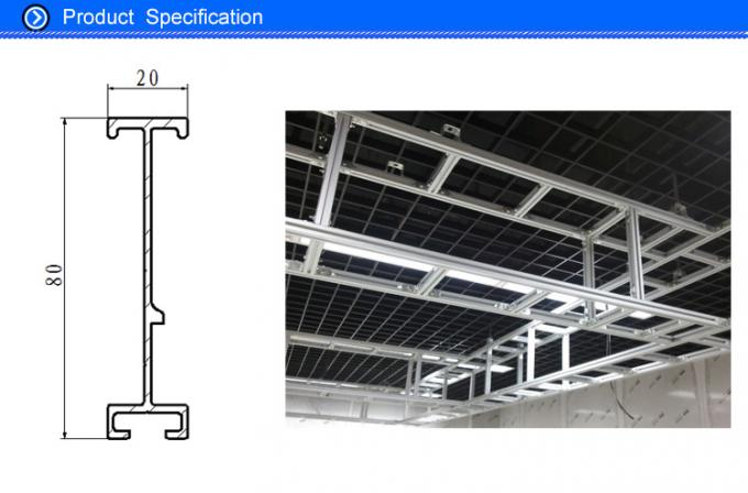 Customized Aluminum I Beam ,  6005 / 6063 / 6061Structural Aluminium Beams