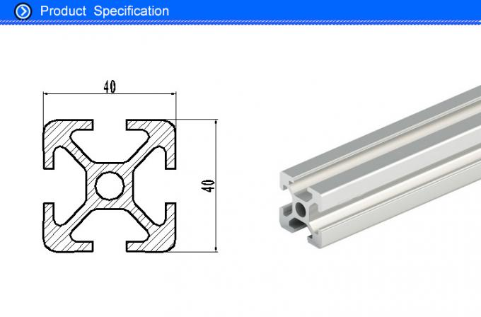 Anodized 4040 T Slot Aluminum Extrusion Profiles for Workshop Assembling Table