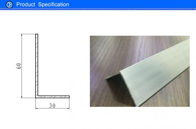 90 Degree Silver / Black Anodised Aluminium Angle With 10 - 15 um Coating Thick