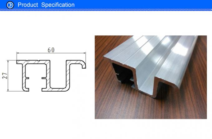 60 MM Width 14 MM Channel Aluminium Extrusion Elevator Door Sill Profile for Cabin Door Sill System