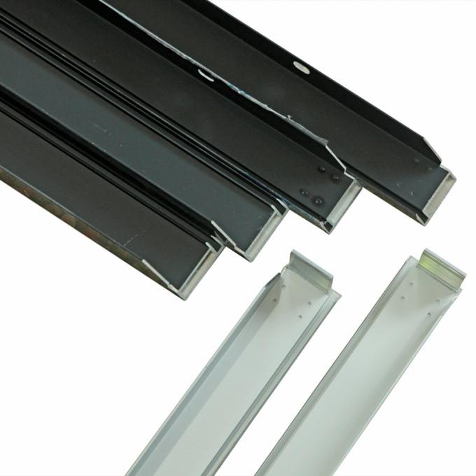 Solar Frames Aluminum Extrusions , Silver Anodized Aluminium Solar Mounting Structure