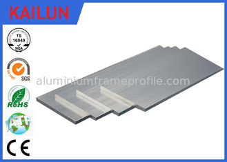 China 40mm Silver Oxidation Aluminium Flat Bar , 6063 Anodized Aluminum Extrusion Solid Bar Profiles supplier