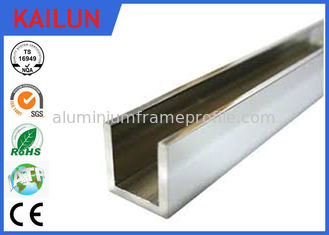 China 6063 / 6061 Aluminum Architectural Channel U Shaped Anti Corrosion Resistant supplier