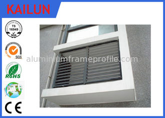 China Natural Anodized Extrusion Aluminum Fence Slats for Window , Residential Aluminum Fencing supplier