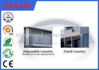 China Powder Coating Sun Shade Aluminium Vertical Louvres , Outdoor Aluminium Window Louvres Blinds supplier