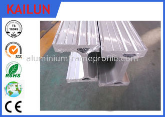 China Silver Anodizing Aluminum I Beam Profiles for Construction Building Materials / Textile Machinery Parts supplier