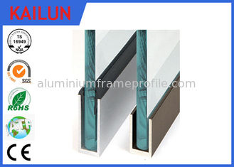 China Aluminium U Channel For Glass Fence Railing ,  Anodized Aluminum Glazing Channel supplier