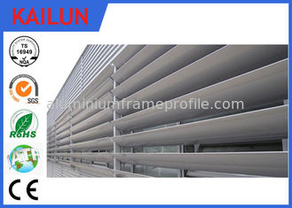 China 8 HW Hardness External 6000 T5 Aluminum Louvered Shutters For Building Facade Window supplier