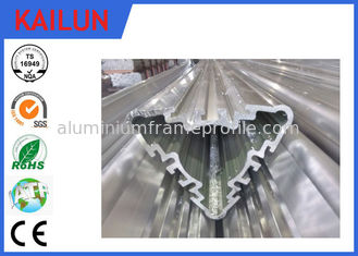 China Industrial Hollow Aluminum Extrusion Profiles , Silver Anodized Aluminium Triple Parts supplier