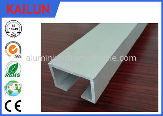 China Curtain Track System Silver Anodized Aluminium U Channel Weather Resistance supplier