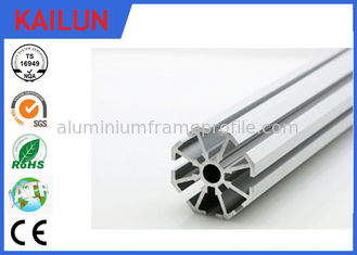 China Round T Slot Aluminum Extrusion for Aluminium Construction Profiles Mounting Frames supplier