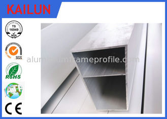 China Railway Cable Channel Aluminum Extrusion Profiles Section Square Tube with Aluminum Alloy 6063 T5 supplier