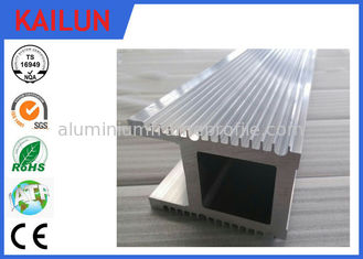China Natural Silver Finish 6063 T5 / T6 Industrial Aluminium Profiles For Co2 Laser Equipment supplier