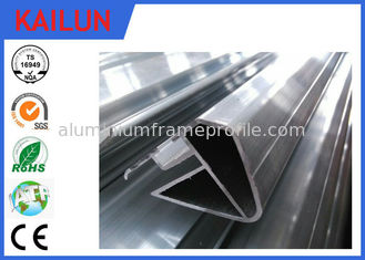 China Oval Hollow Shape 6063 Aluminum Extrusion Profiles for Rail Coach Handrail Enclosure supplier