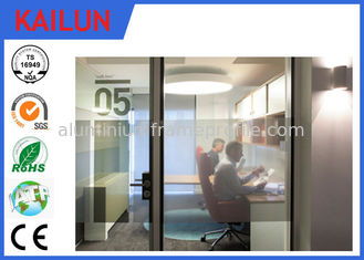 China Silver / Black Anodized Aluminium U Channel For Office Partition System TS16949 : 2009 supplier