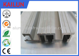 China Cargo Elevator Exterior Aluminum Door Threshold , 96 Mm Anodized Aluminium Sliding Door Parts supplier