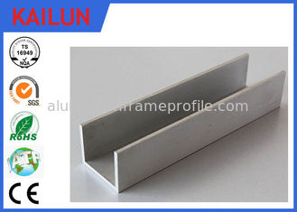 China 6063 Aluminum U Shaped Channel , Anodized Aluminum U Channel Guide Railing 20x 20 Mm supplier