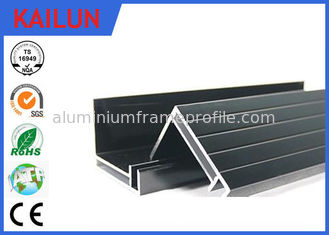 China 4 MM Glass 300 Watt Black Anodized Aluminum Panel Mounting Rails , Aluminum Extrusion Profile 50 X 35 Mm supplier