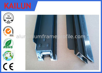 China Black Anodized Alum ZEP Solar Panel Frame Material with Four Corner Key Block Easy Installed supplier