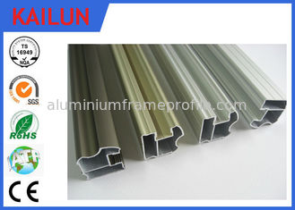 China 6063 Aluminum Sliding Door Frame , Hollow Silver Anodized Aluminum Structural Framing supplier