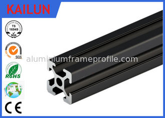 China T Slot Black Anodized Structural Aluminum Beams With Square Hollow 6000 series Material supplier