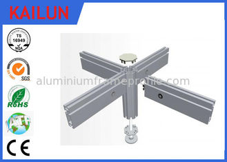 China Flat Hollow 6063 T5 T Slot Aluminum Extrusion Profiles With Silver Anodized Surface Treatment supplier