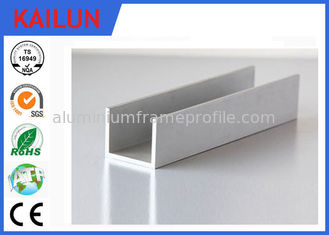 China Building Materials Aluminium C Channel Silver Anodised 35 MM Width 3.5 MM Thick supplier