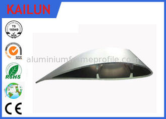 China Aerofoil Shaped External Aluminium Louvres with 15 - 20 um Thick Clear Anodized Film supplier