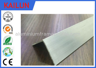 China 90 Degree Silver / Black Anodised Aluminium Angle With 10 - 15 um Coating Thick supplier