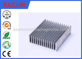 China Sliver Anodized Industrial Aluminium Profiles , High Power Extruded Aluminum Heat Sink Enclosure supplier