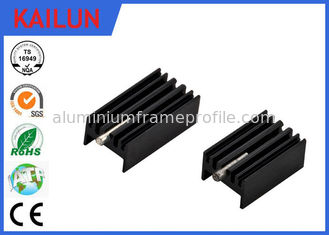 China Led Aluminum Extrusion Profiles Flat Heat Sink For Led Street Light / 18 Watt Electronic Fin Shell supplier