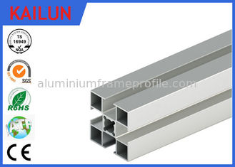 China 3838 T Slot Custom Aluminum Extrusions Material With Silver Anodized Surface Treatment supplier