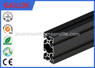 China Black Anodised V - Slot Aluminum Extrusion Section for Assembly Line Profile 80 MM X 40 MM supplier