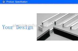 China Custom Aluminum Extrusions For Solar Panel Mounting Frames Material SGS / ROHS. supplier