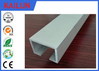 China Curtain Track System Silver Anodized Aluminium U Channel Weather Resistance factory