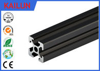 China T Slot Black Anodized Structural Aluminum Beams With Square Hollow 6000 series Material factory