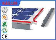 China Double Glass 250W / 300W PV Aluminum Solar Panel Frame T5 Temper Black Matt factory