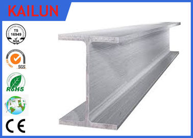 China Industrial Extruded Aluminum I Beam Building Material With Silver Oxidation Surface Treatment distributor