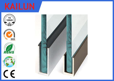 Aluminium U Channel For Glass Fence Railing ,  Anodized Aluminum Glazing Channel
