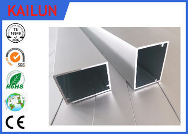HVAC Systems Aluminium Frame Section Profile , Hollow Extruded Aluminum Rectangular Tubing