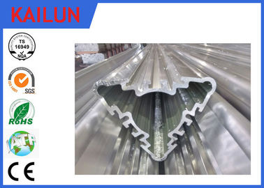 China Industrial Hollow Aluminum Extrusion Profiles , Silver Anodized Aluminium Triple Parts distributor