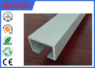 China Curtain Track System Silver Anodized Aluminium U Channel Weather Resistance distributor