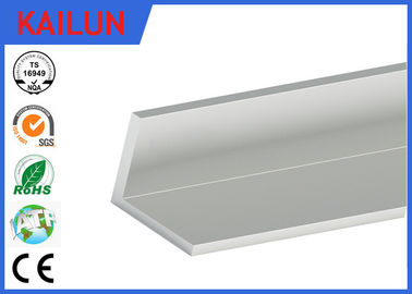 Natural Silver Anodized Aluminium Angle , Furniture Aluminum Corner Profile 50 X 50 X 6 MM