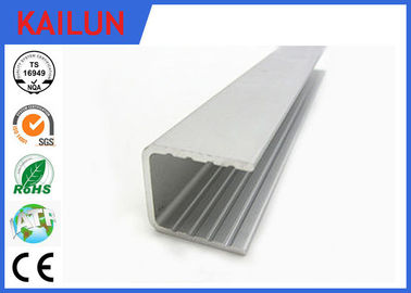China Powder Coating Aluminium U Channel Extrusion Profiles For Building Curtain Glass Wall distributor