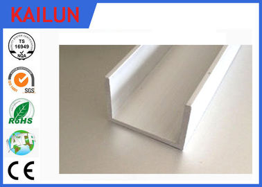 China Aluminium U Channel Extrusion , Home Decoration / Window Guide Rail Structural Aluminum Channel distributor